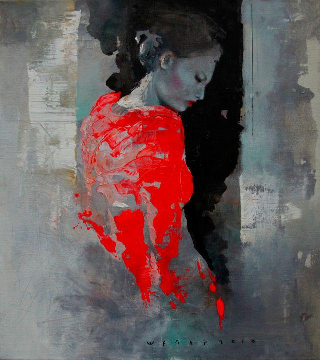 Girl in scarlet - artsheleg