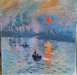 Sunrise a la Monet