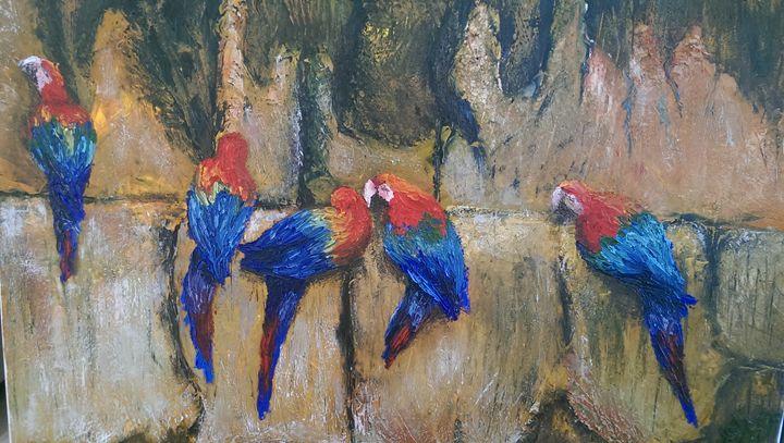 Parrots - Natalija Dauberga