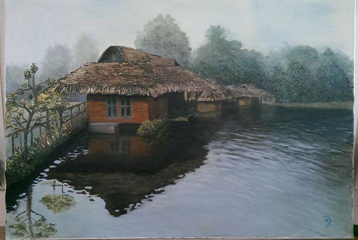 Huts on water - Natalija Dauberga