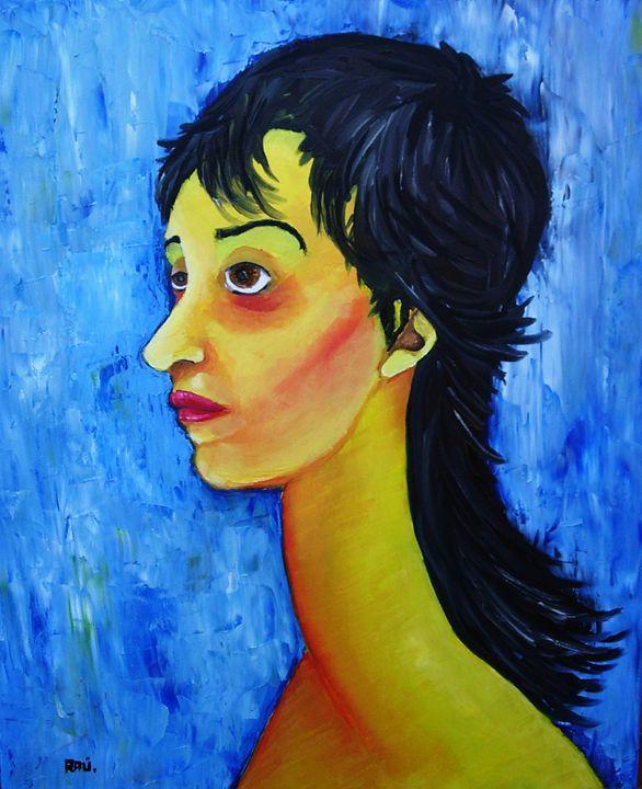 Modigliani style - Raul Sanchez