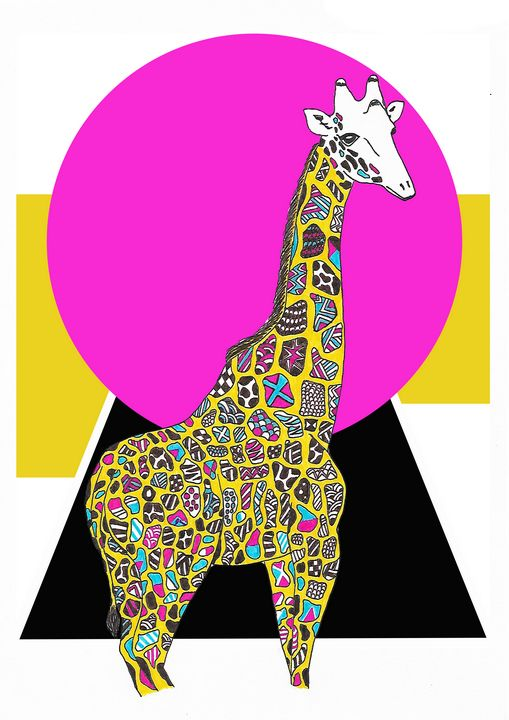 Trendy giraffe - Drawings