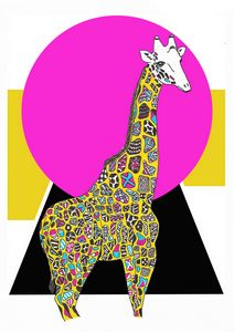 Trendy giraffe