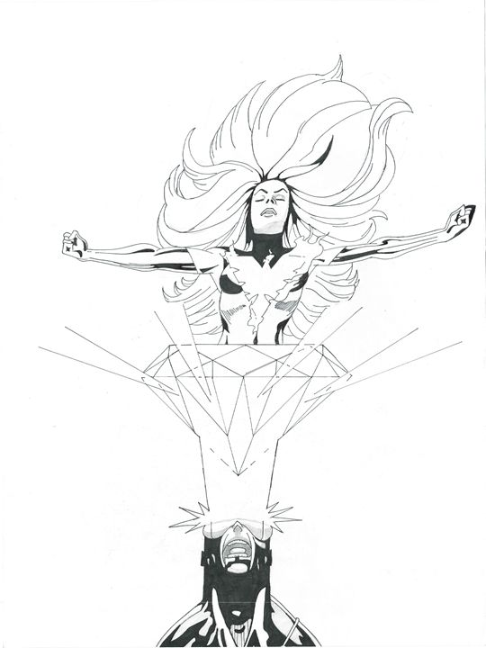 Phoenix Rising B&W - Kris Ink