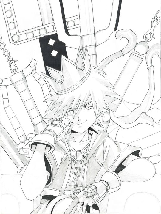 Sora Kingdom Hearts Kris Ink Drawings Illustration Childrens