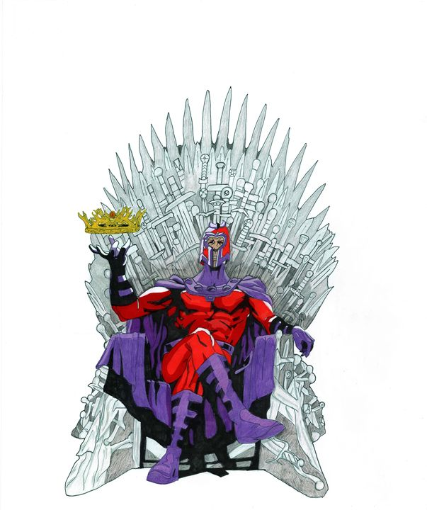 Magneto on Iron Throne - Kris Ink
