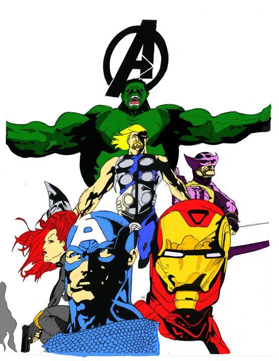 Avengers Assemble Color - Kris Ink