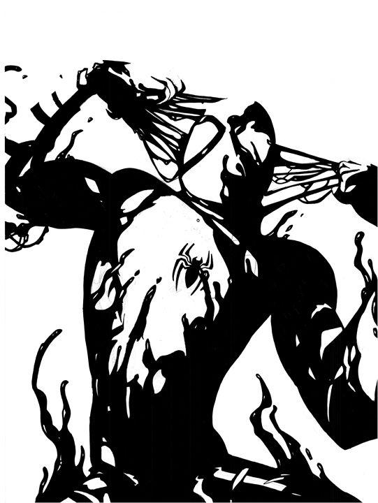 Symbiote B U0026w - Kris Ink