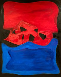 Red with Black and Blue