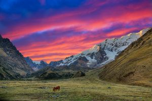 Evening in the Andes