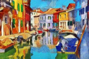 Burano on a Sunday Afternoon - Keith R Furness
