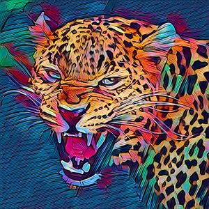 Leopard Abstract - Keith R Furness