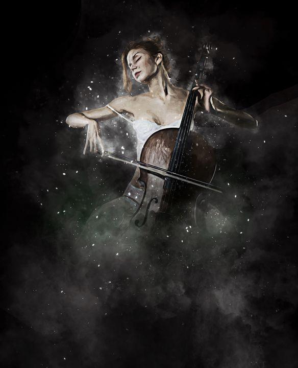 Celloist in a Dream - Keith R Furness