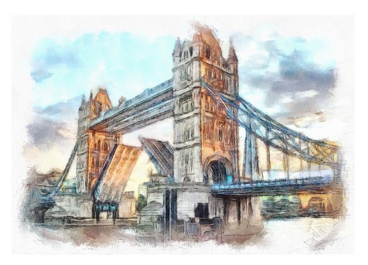 The Opening of Tower Bridge - Keith R Furness