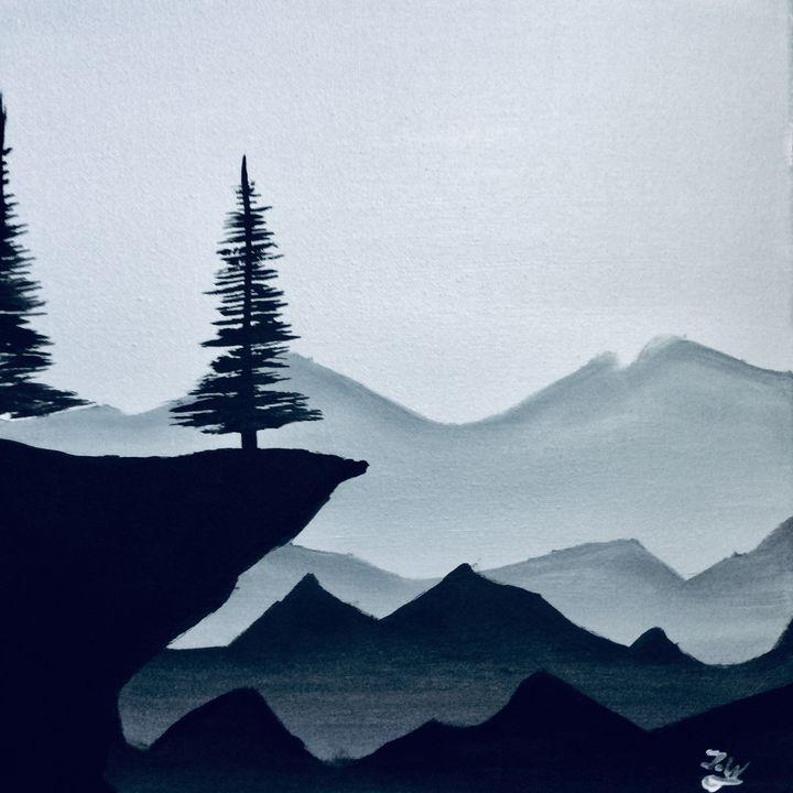 Misty mountains - J.W art