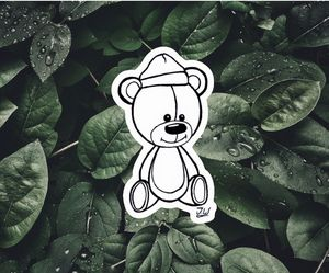 Teddy Bear Sticker - J.W art