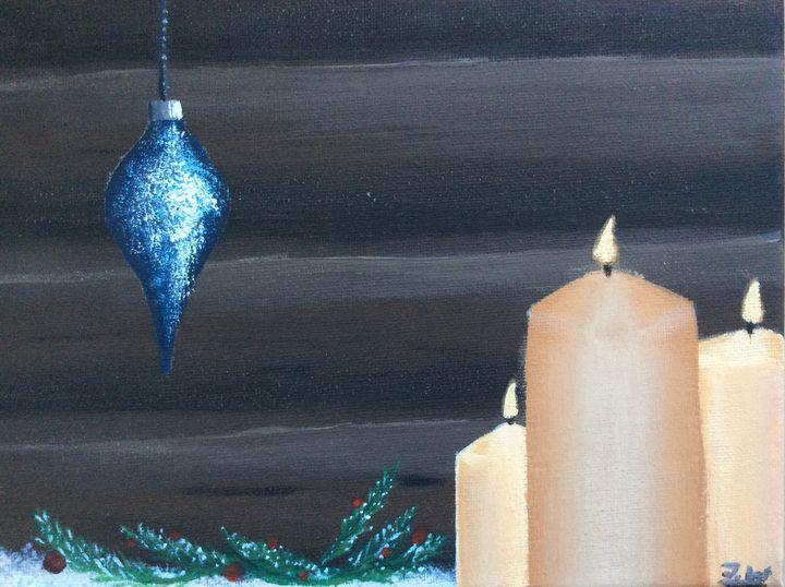 Christmas candles - J.W art