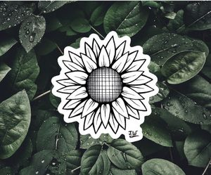 Sunflower Sticker - J.W art