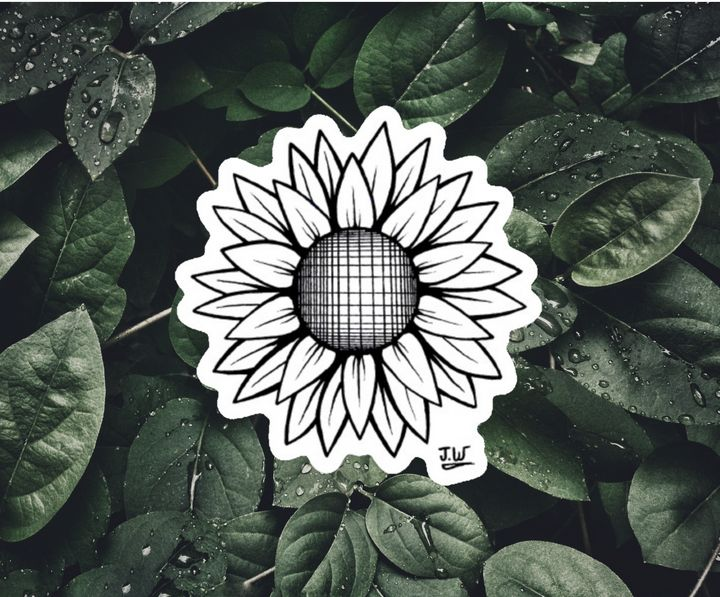 Sunflower Sticker - J.W art