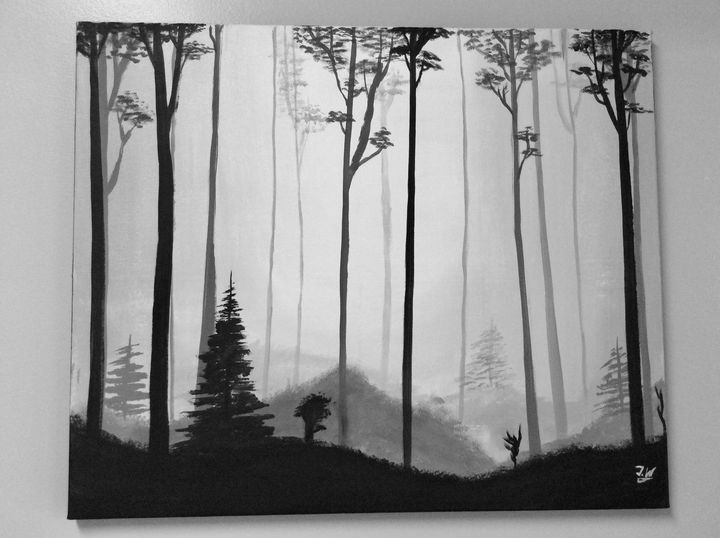 Misty forest - J.W art
