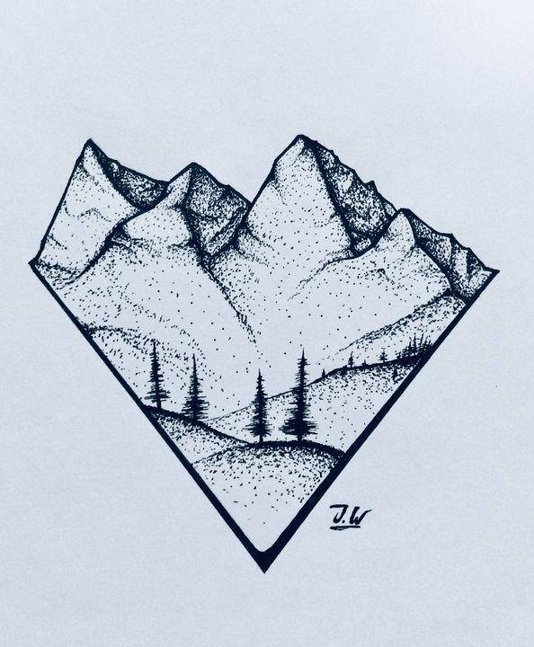 Rocky Mountains - J.W art