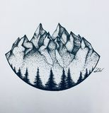 Dotted mountains