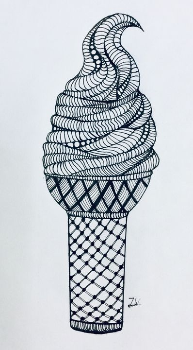 Creamy ice cream - J.W art