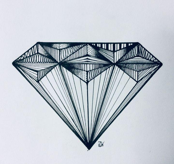 DIAMOND DRAWING - J.W art