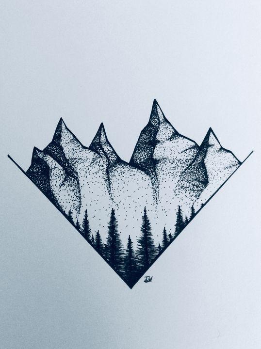 Grand Teton mountains - J.W art