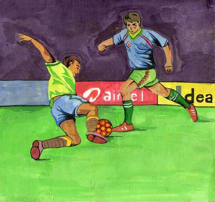 Playing football - Sujatarak