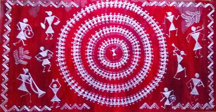 Ethnic Indian Tribal Art - Saaz Arty