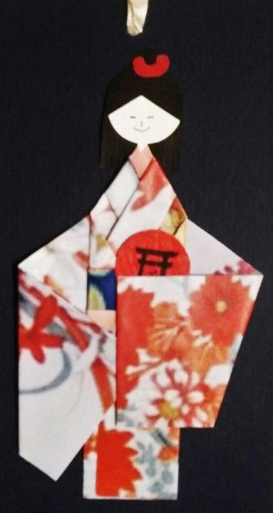 Cute Japanaese dolls bookmark - Saaz Arty