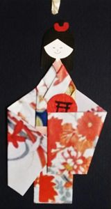 Cute Japanaese dolls bookmark - Saaz Arty