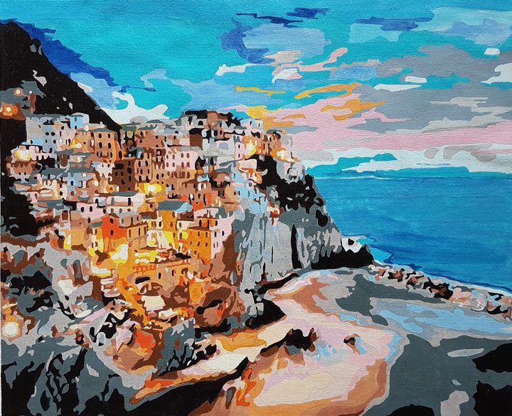 Amalfi Coast In Italy - Saaz Arty