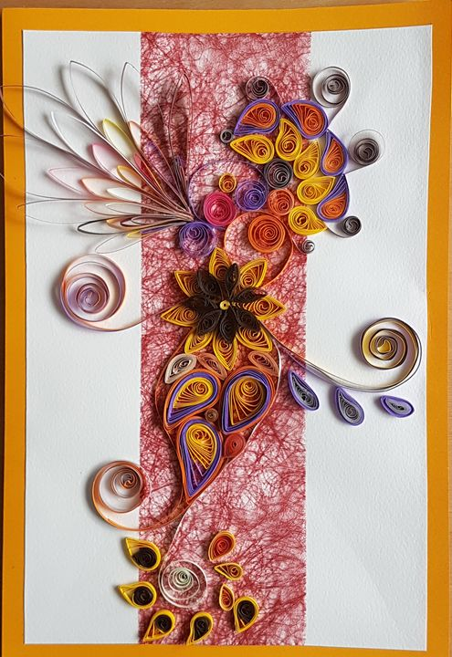 Quilled greeting card - Saaz Arty