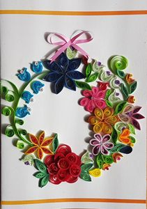 Flowers of a wreath