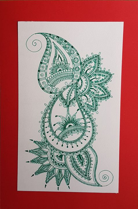 Paisley and Henna - Saaz Arty
