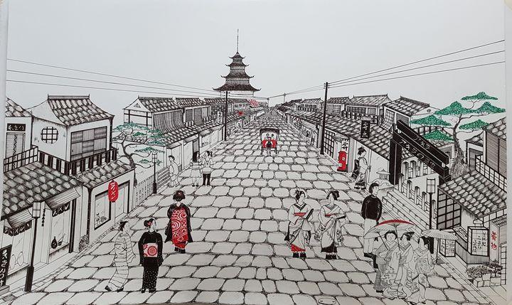 Kyoto street - Saaz Arty