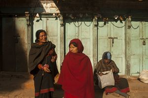 Nepalese Women on a Sunny Afternoon - Jed Holtzman Fine Art