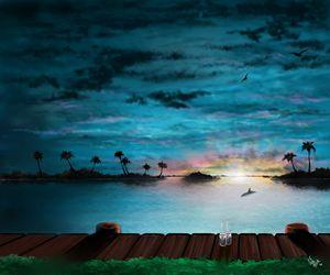 Sundown on the Harbor - DigitalArt4You