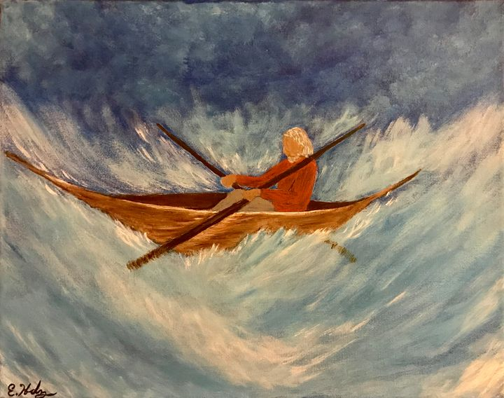 Against the Waves - Fine Art by Evelyn Hernandez