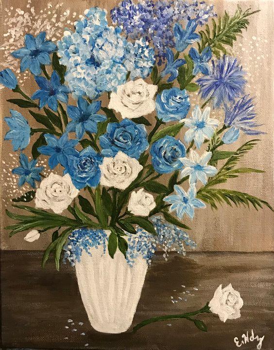 Beautiful Blues - Fine Art by Evelyn Hernandez