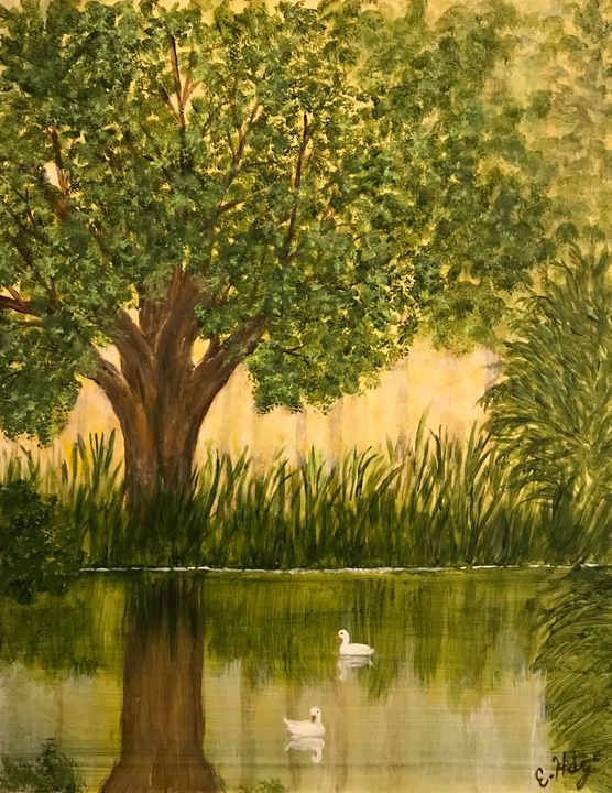 Peaceful Lake - Fine Art by Evelyn Hernandez