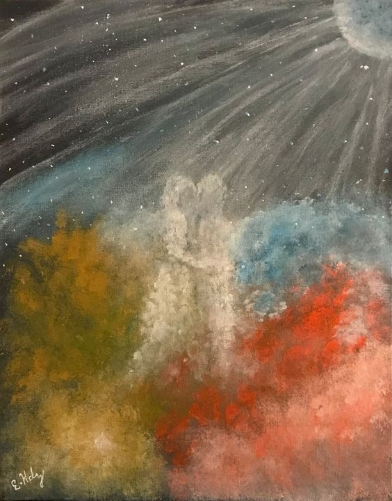 Galactic Love - Fine Art by Evelyn Hernandez