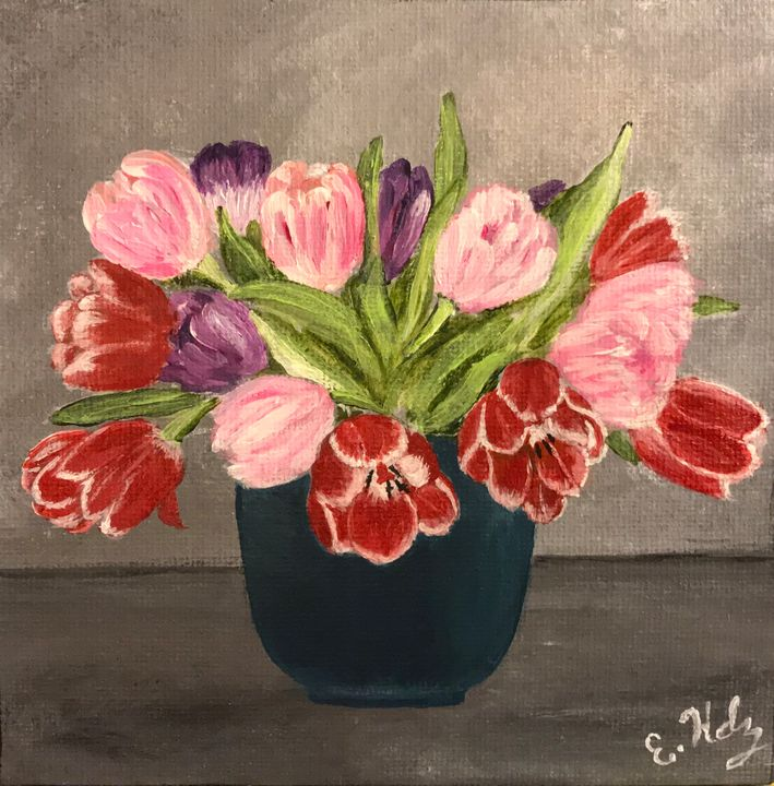 Pretty Tulips - Fine Art by Evelyn Hernandez
