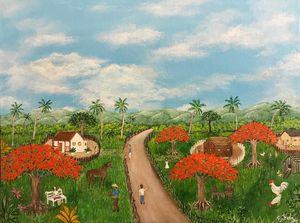 Vida Campesina - Puerto Rico - Fine Art by Evelyn Hernandez