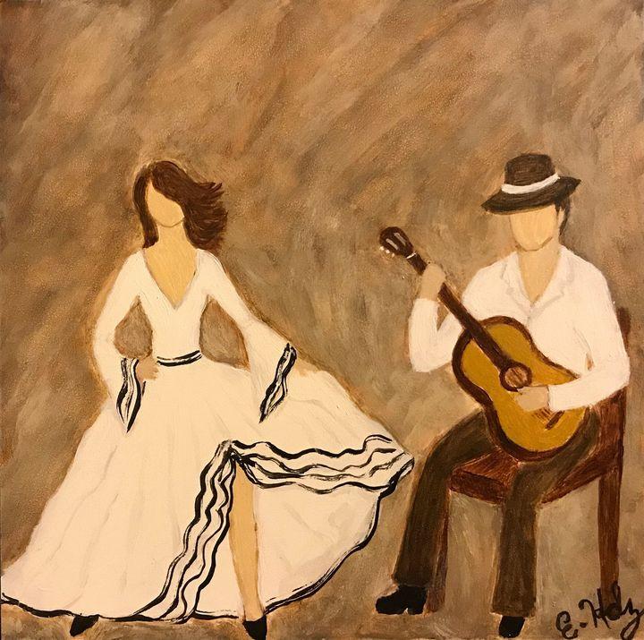 Flamenco Dance - Fine Art by Evelyn Hernandez