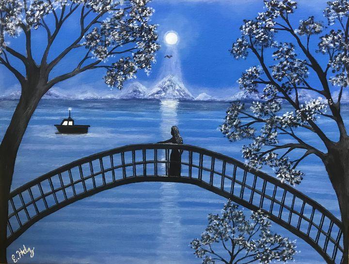 Moonlit Evening - Fine Art by Evelyn Hernandez