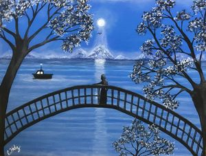 Moonlit Evening - Fine Art by Evelyn Hernandez