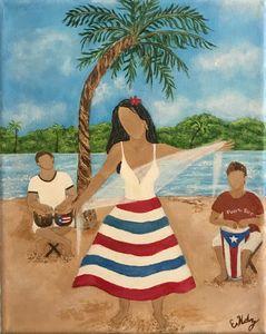 Ritmo Caribeño (Caribbean Rhythm). - Fine Art by Evelyn Hernandez
